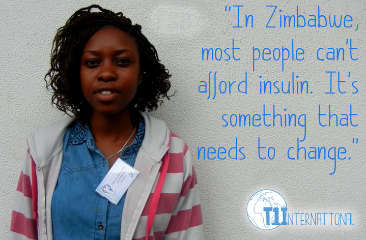 Yemurai in Zimbabwe says: In Zimbabwe most people can't afford insulin. It's something that needs to change.