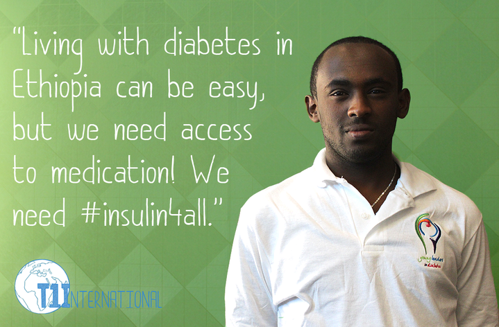 Jonas in Ethiopia says: Living with diabetes in Ethiopia can be easy, but we need access to medication! We need #insulin4all.