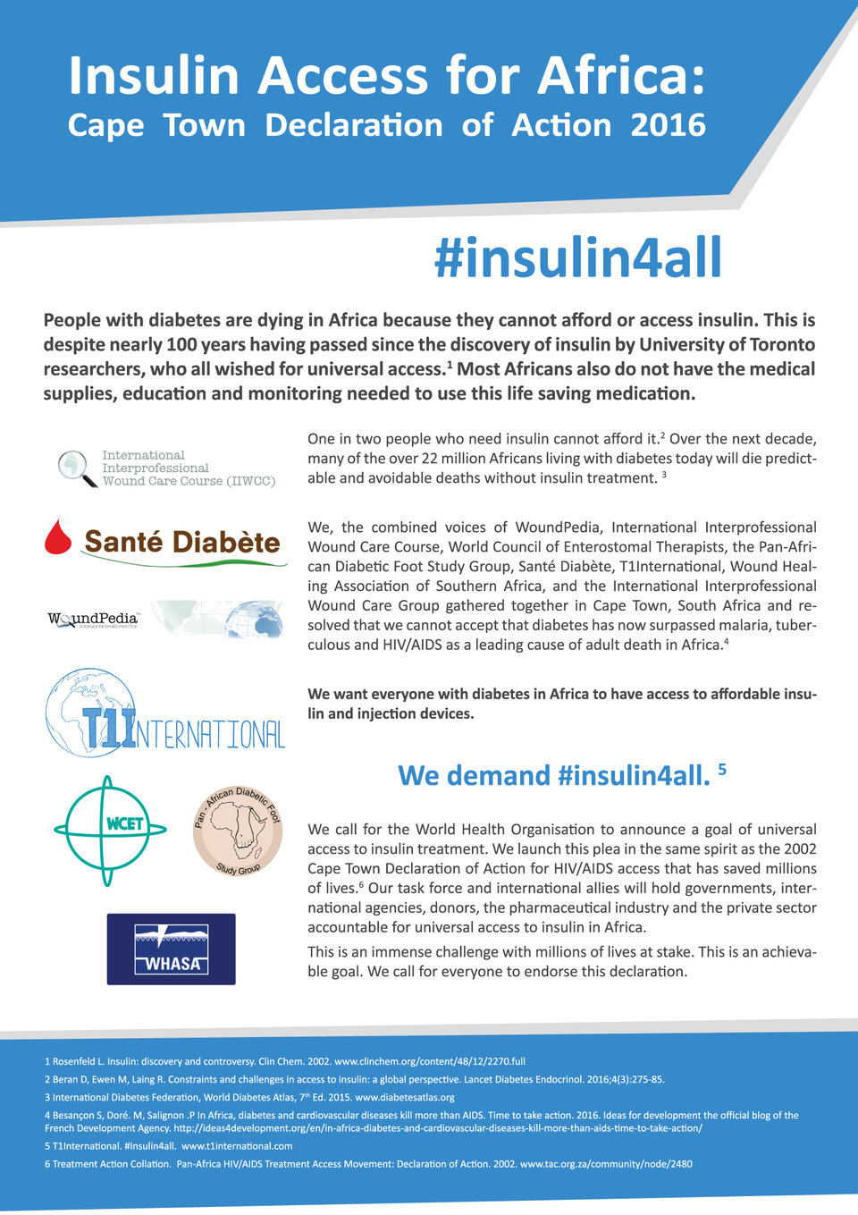 #insulin4all, Cape Town Declaration