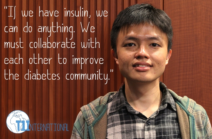 Gianni in Taiwan says: If we have insulin, we can do anything. We must collaborate with each other to improve the diabetes community.