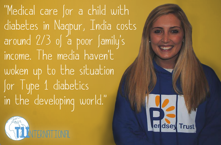 """Medical care for a child with diabetes in Nagpur, India costs around 2/3 of a poor family's income. The media haven't woken up to the situation for Type 1 Diabetics in the developing world."""
