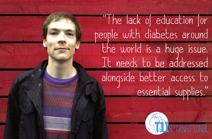 John in the UK says: The lack of education for people with diabetes around the world is a huge issue. It needs to be addressed alongside better access to essential supplies.